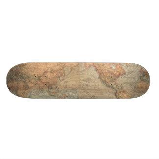 Vintage Map of The World (1870) Skate Decks