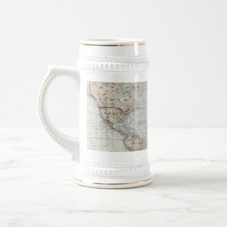Vintage Map of The World 1875 Coffee Mugs