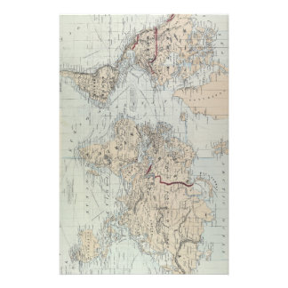Vintage Map of The World (1875) Personalized Stationery