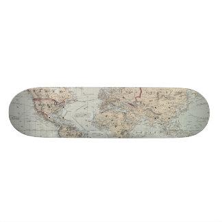 Vintage Map of The World (1875) Skate Deck