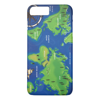 Vintage Map Of the world. iPhone 7 Plus Case