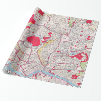 Vintage Map of Tokyo Japan (1880) Wrapping Paper