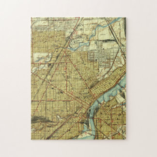 Vintage Map of Toledo Ohio (1938) Jigsaw Puzzle