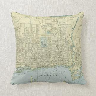 Vintage Map of Toronto (1901) Pillows