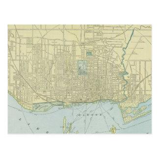 Vintage Map of Toronto (1901) Postcard