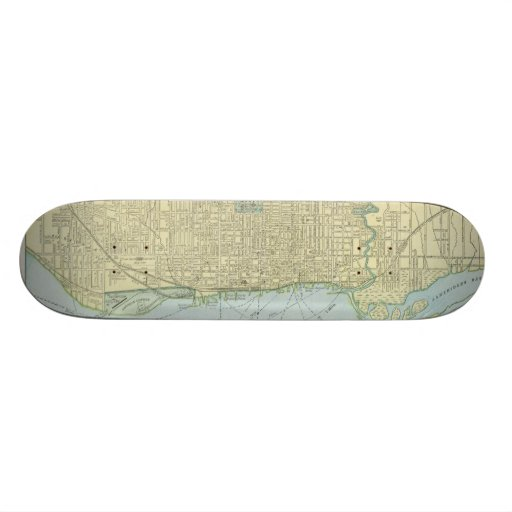 Vintage Map of Toronto (1901) Skateboards