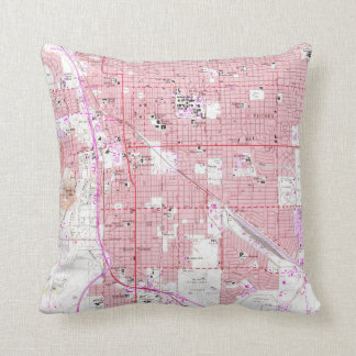 Vintage Map of Tucson Arizona (1957) Throw Pillow