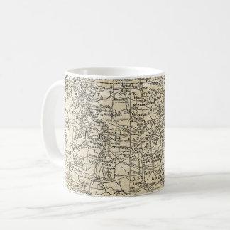 Vintage Map of United States of America Travel Coffee Mug