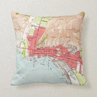 Vintage Map of Ventura California (1951) Throw Pillow