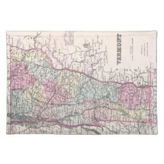 Vintage Map of Vermont (1855) Place Mat
