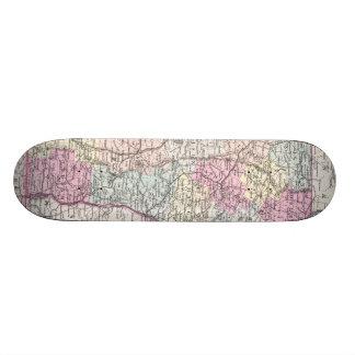 Vintage Map of Vermont (1855) Skate Board Decks