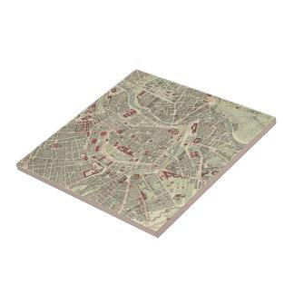 Vintage Map of Vienna Austria (1883) Ceramic Tile