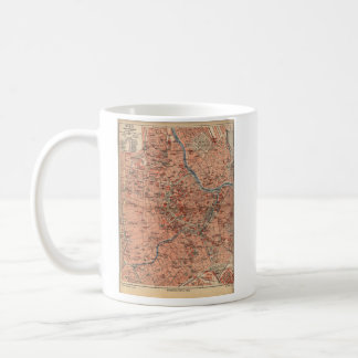 Vintage Map of Vienna Austria (1920) Coffee Mug