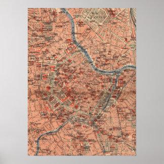 Vintage Map of Vienna Austria (1920) Poster