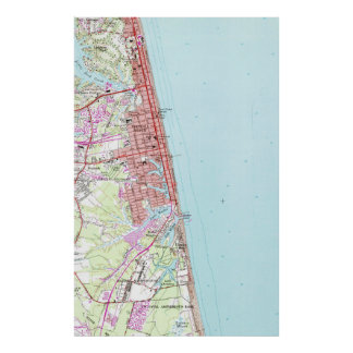 Vintage Map of Virginia Beach (1965) 2 Poster