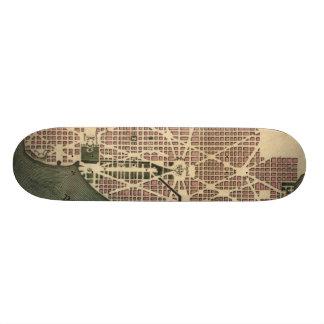 Vintage Map of Washington D.C. (1793) Skate Board Deck