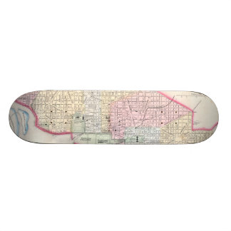 Vintage Map of Washington D.C. (1864) Custom Skateboard