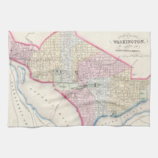 Vintage Map of Washington D.C. (1864) Kitchen Towel