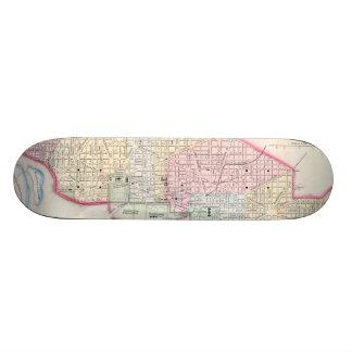 Vintage Map of Washington D.C. (1864) Skate Boards