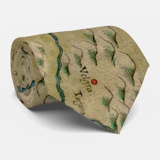 Vintage Map of West Africa (1561) Tie