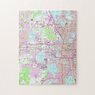 Vintage Map of Western Orlando Florida (1956) Jigsaw Puzzle