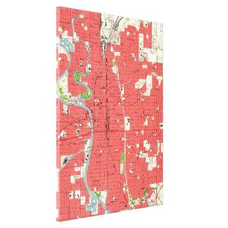 Vintage Map of Wichita Kansas (1961) Canvas Print