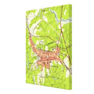 Vintage Map of Williamsburg Virginia (1952) Canvas Print