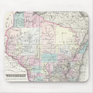 Vintage Map of Wisconsin (1855) Mouse Pad