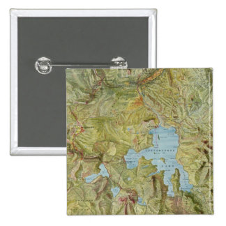 Vintage Map of Yellowstone National Park (1898) 2 Inch Square Button