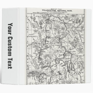 Vintage Map of Yellowstone National Park Vinyl Binders