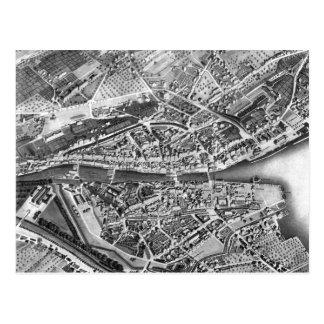 Vintage Map of Zurich Switzerland (1850) Postcard