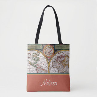 Vintage Map | Personalized Tote Bag