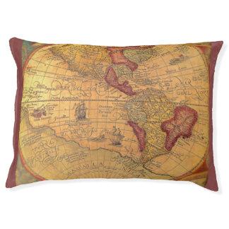 Vintage Map Pet Bed