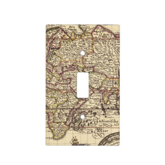 Vintage Map Print Light Switch Cover