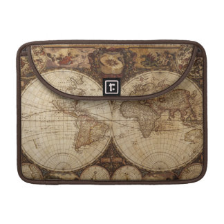 Vintage Map Sleeve For MacBook Pro