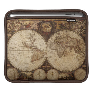 Vintage Map Sleeves For iPads