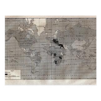 "Vintage map,  ""World War I"" circa 1920 Postcard"