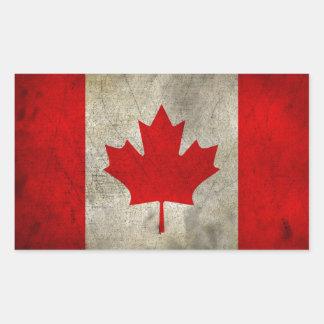 Vintage Maple Leaf Canadian Flag Stickers
