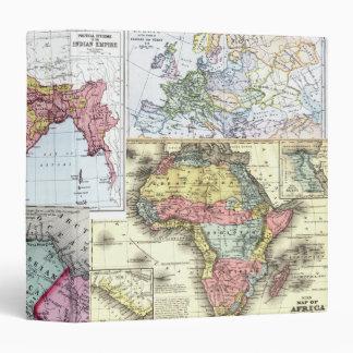Vintage Maps Vinyl Binders