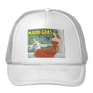 Vintage Mardi Gras Fruit Crate Label Mesh Hats