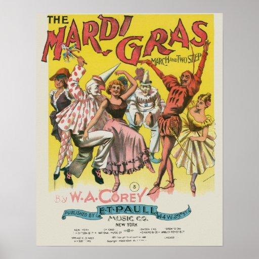 Vintage Mardi Gras Poster