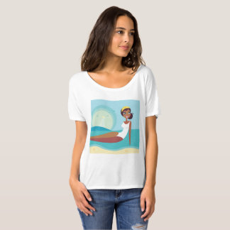 VINTAGE Mare lady edition / blue, white T-Shirt