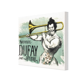 Vintage Marguerite Dufay Trombone Canvas Print