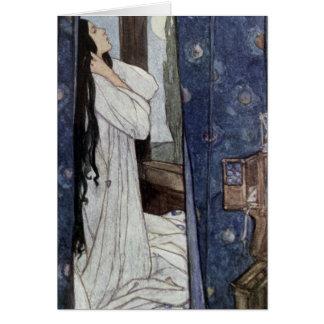Vintage - Mariana, Poem by Alfred Lord Tennyson, Card