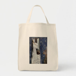 Vintage - Mariana, Poem by Alfred Lord Tennyson, Tote Bag