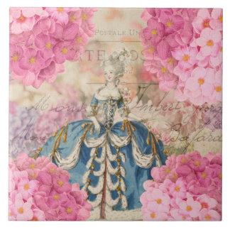 Vintage Marie Antoinette Ceramic Tile
