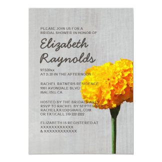 Vintage Marigold Bridal Shower Invitations