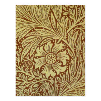 Vintage Marigold William Morris Wallpaper Design Postcard
