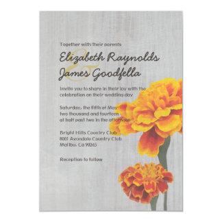 Vintage Marigolds Wedding Invitations