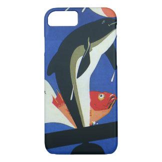 Vintage Marine Life, Dolphin and Goldfish iPhone 7 Case